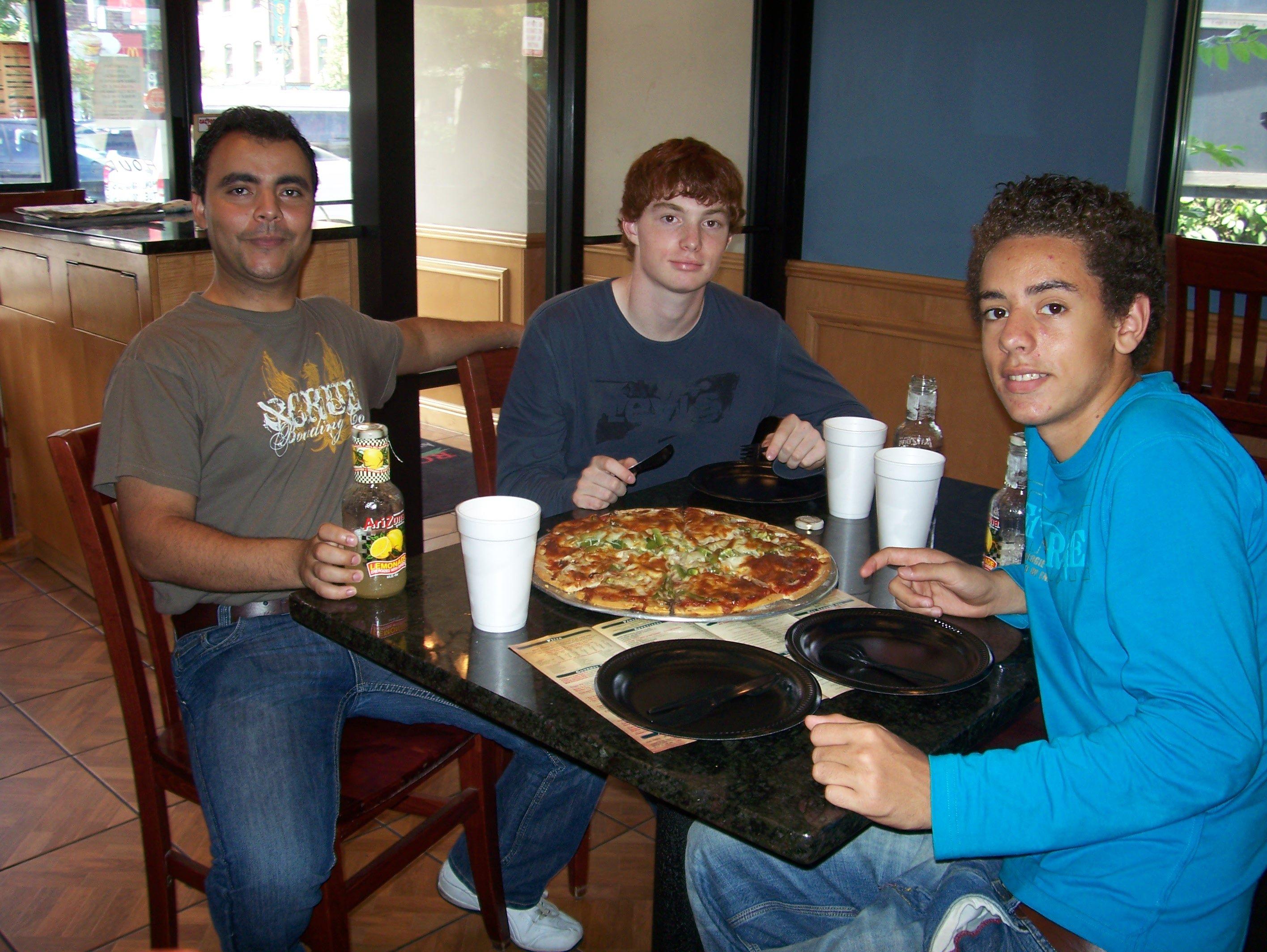 La pizza ca fait plaisir !